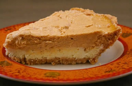This Reduced Sugar Layered Pumpkin Cheesecake is something I first ...