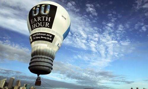 earth hour balloon