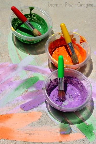 NEW cornstarch free recipe for sidewalk chalk paint