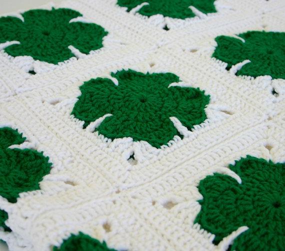 yonca+yaprakl%C4%B1+battaniye+(1) Yonca Modelleri Battaniye Örneği