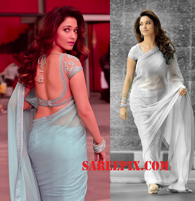 Tamanna in saree from rebel movie