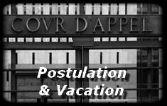 Avocat à Auxerre, Julie Scavazza, Postulation et Vacation