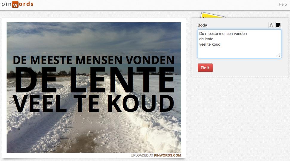 Citaten Noteren : Tekst aan een afbeelding toevoegen met pinwords ict vijver