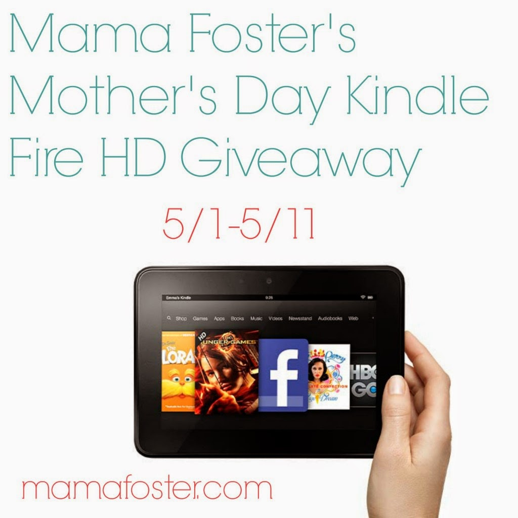 Mother's Day Kindle Fire HD Giveaway