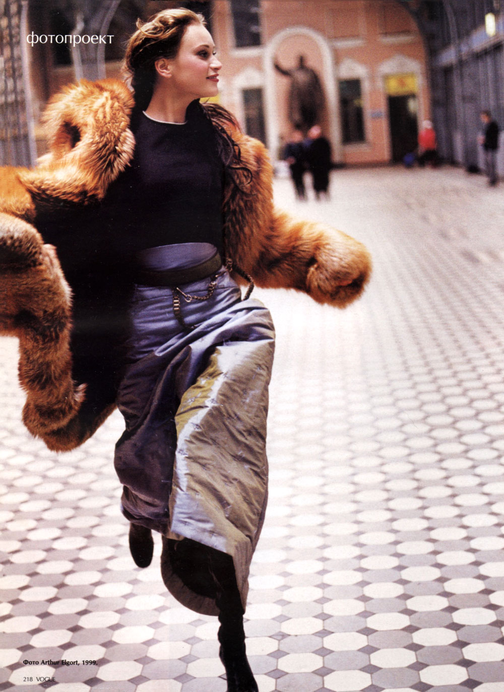 Natalia Semanova by Arthur Elgort in Vogue Russia 1999