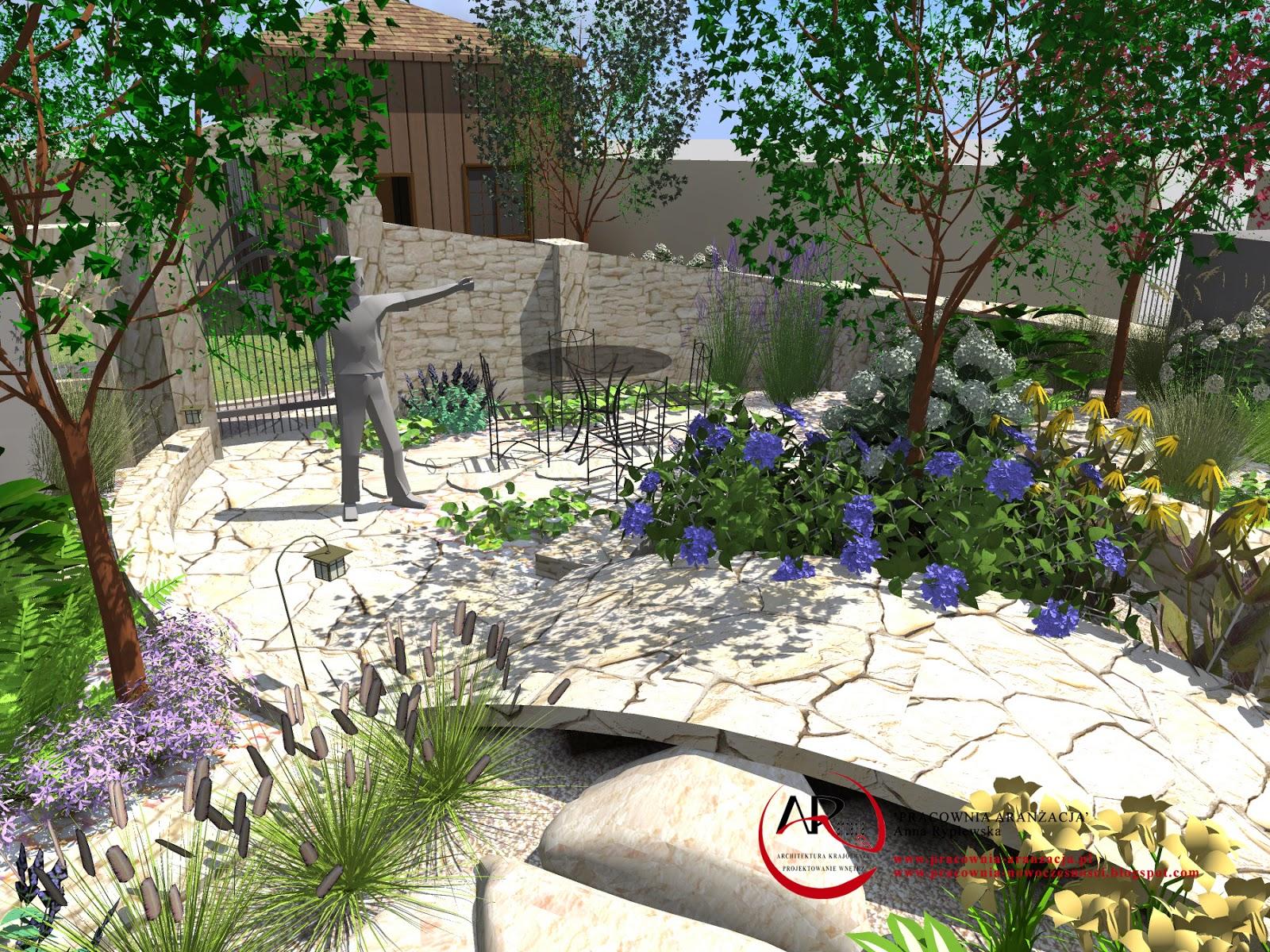 murki wapienne w ogrodzie