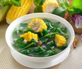 Cara membuat sayur bening jagung bayam yang enak dan sederhana Resep Cara Membuat Sayur Bening Jagung Bayam Yang sederhana
