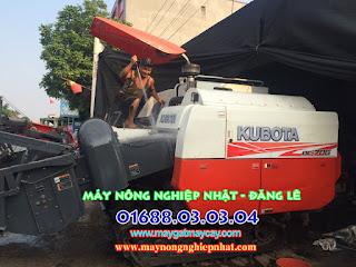 báo giá bán máy gặt liên hợp kubota dc70g dc70 thái lan cũ bãi đi lạng sơn