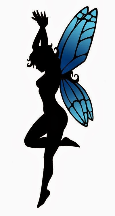 Dancing fairy tattoo stencil
