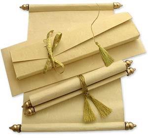 Cheap Scroll Wedding Invitations