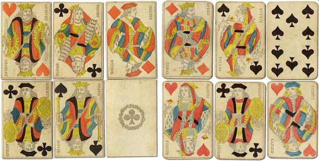 парижский шаблон игральных карт