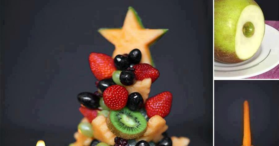 IDEAS and DECOR: How to Make a Christmas Fruit Tree