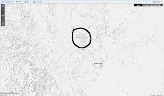 Allah's name visible on yahoo map north of Madinah Munawra
