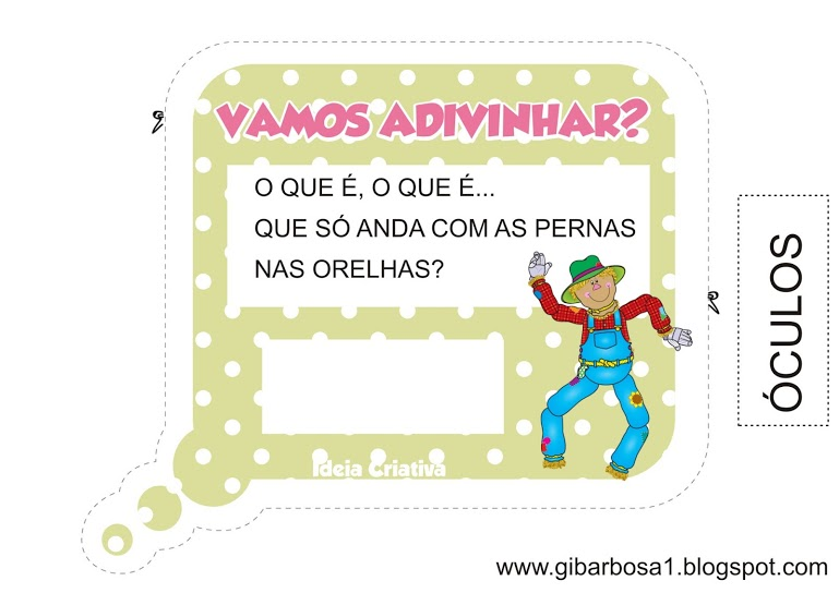 Top Colando Adivinhas Projeto Folclore | Ideia Criativa - Gi Barbosa  RB21
