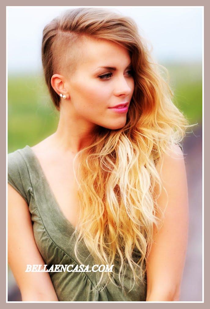 Corte de pelo mujer un lado rapado