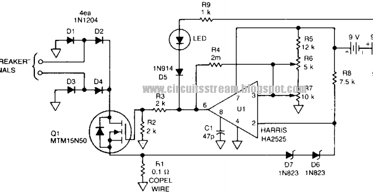 build a fast breaker circuit diagram