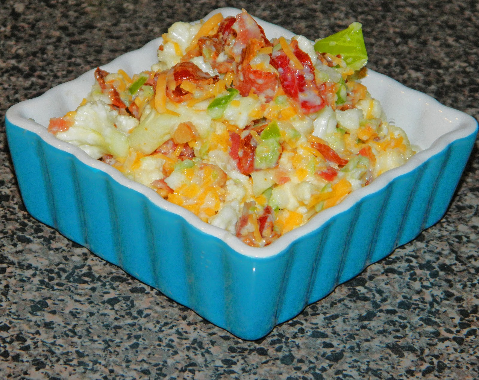 cauliflower bacon salad