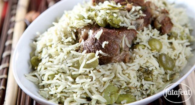 أرز بالفول الاخضر - طريقة عمل أرز بالفول الاخضر