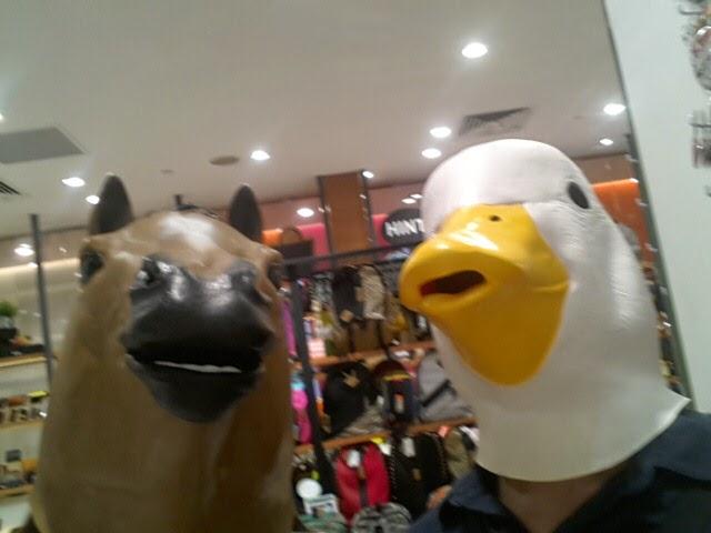 tokyu hands horse duck mask