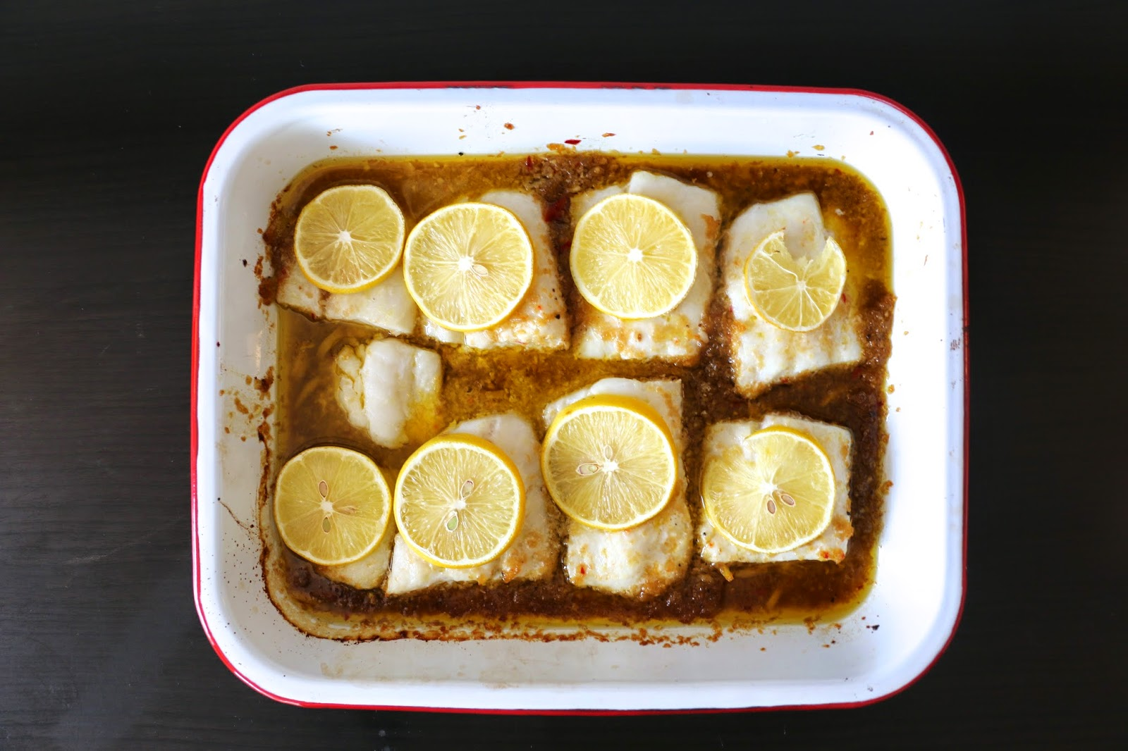 Cod Filets In The Craziest Sauce (Lemon, Ginger and Tamarind)