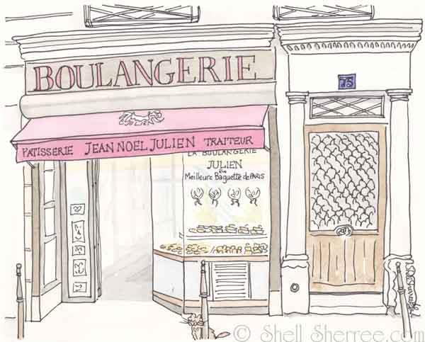 Francophile friday julien boulangerie in paris shell - Coloriage boulangerie ...