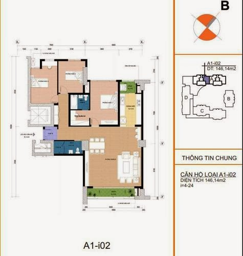 Mặt bằng căn hộ A1- i02