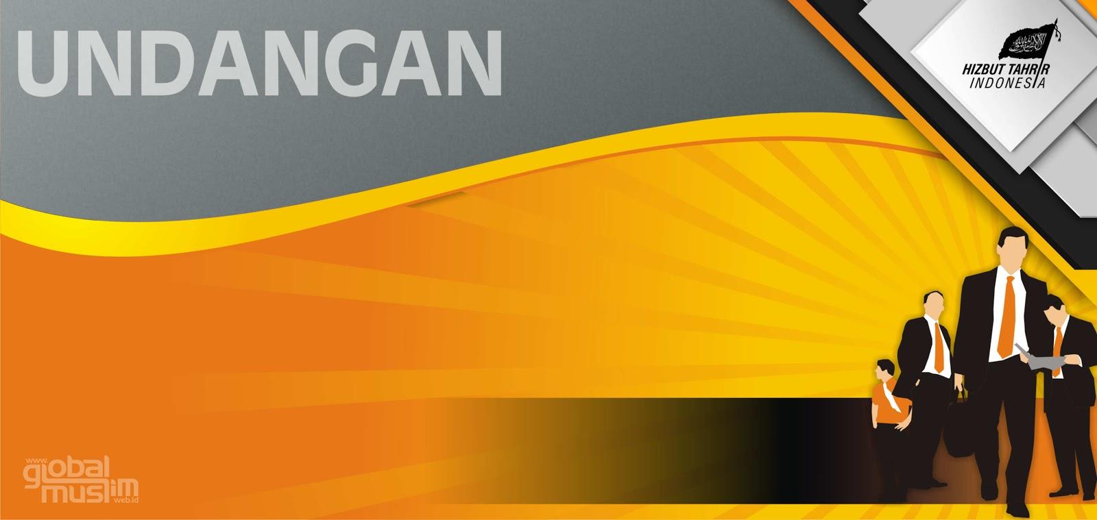 Template Undangan Orange Blank