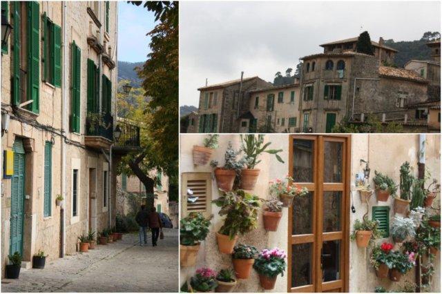 Calles y casas en Valldemosa, Mallorca
