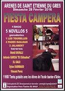 El Chihuahua y El Galo, anunciados en la tienta publica de Saint Etienne Du Gres, el 28/02.