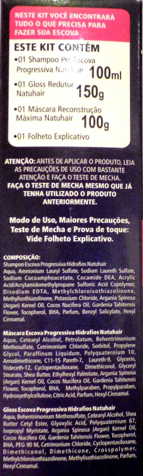 ingredientes skafe natu hair hidra fios alisado brasileno