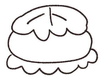 柏餅のイラスト(こどもの日)線画