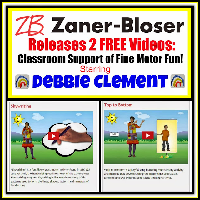 2 FREE Videos: Zaner-Bloser FUN! starring Debbie Clement