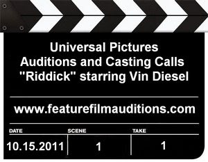 Universal Pictures Riddick Auditions Casting Calls