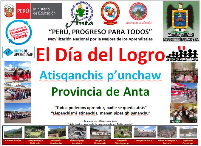 : UGEL Anta Celebra el Día de Logro - 05 de octubre - Directiva 09
