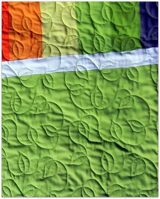 Janice Elaine Sews Modern Patchwork Rainbow Quilt