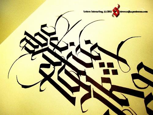 Calligraphy Alphabet Creating A Gothic Alphabet