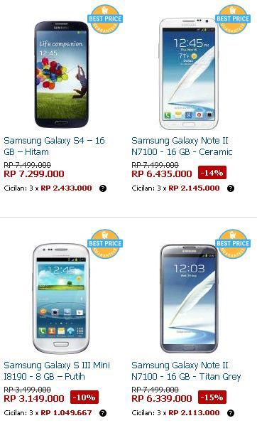Jajaran samsung meliputi Seri Galaxy S, Note , Ace,Mega, Ativ, Champ ...