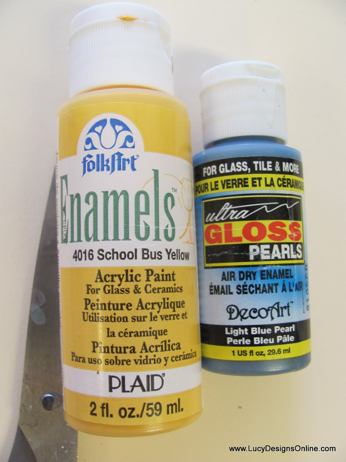 Folk Art and Deco Art Glass paints