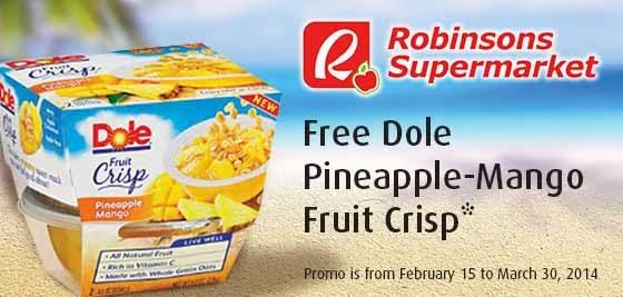 free Dole Pineapple Mango Fruit Crisp, BPI credit card promo, credit card promo, promotion