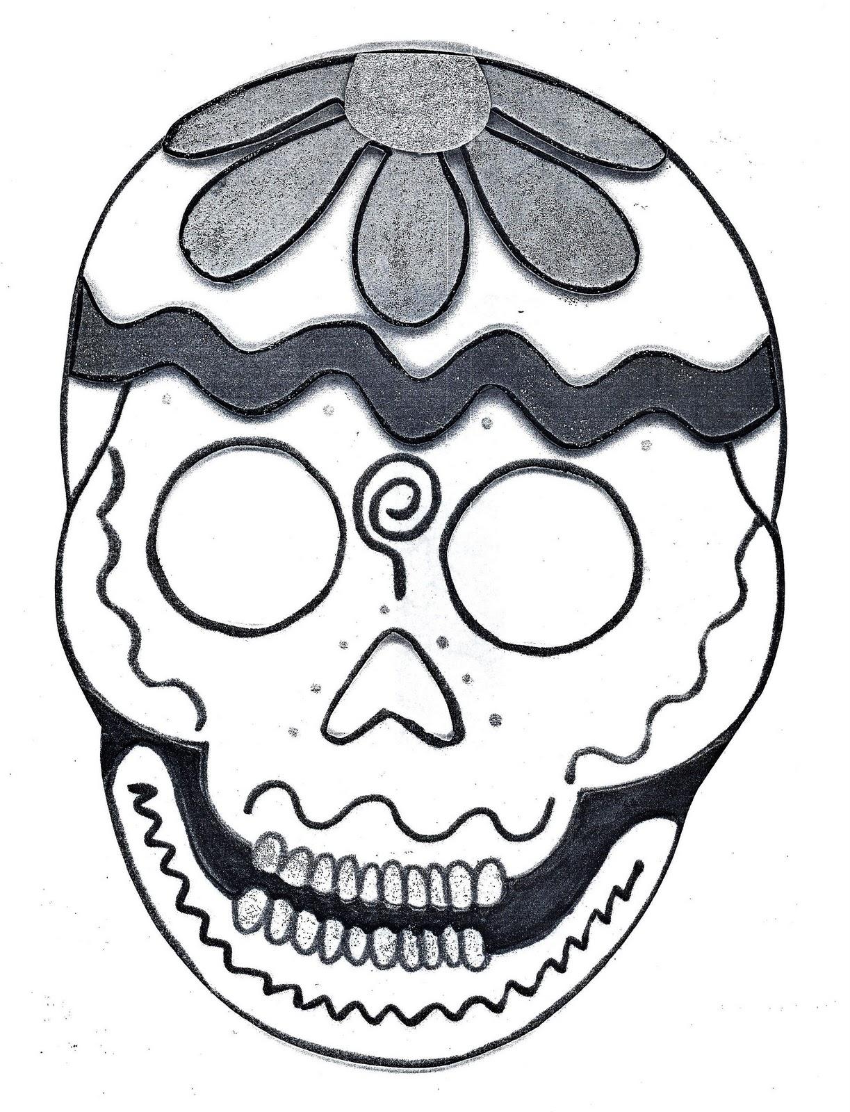 DIA De Muertos Dibujos Para Colorear