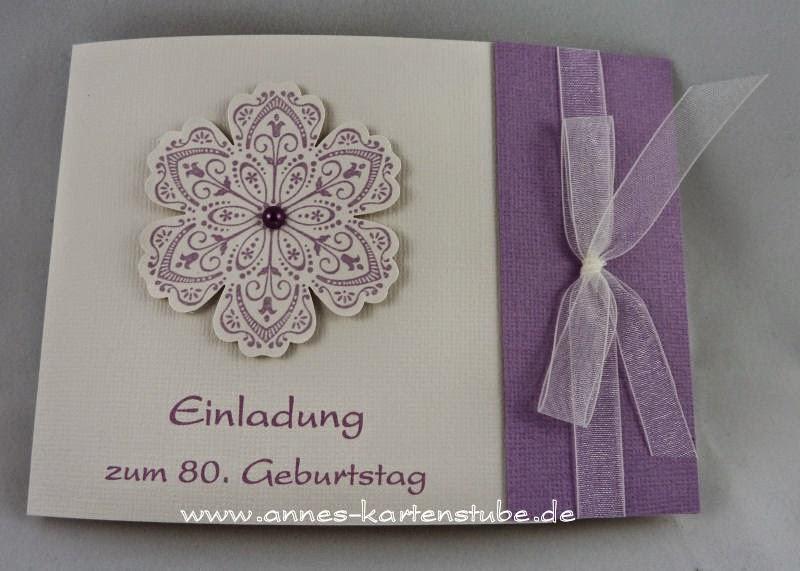 Annes Kartenstube: Einladungen Zum 80. Geburtstag, Einladungsentwurf
