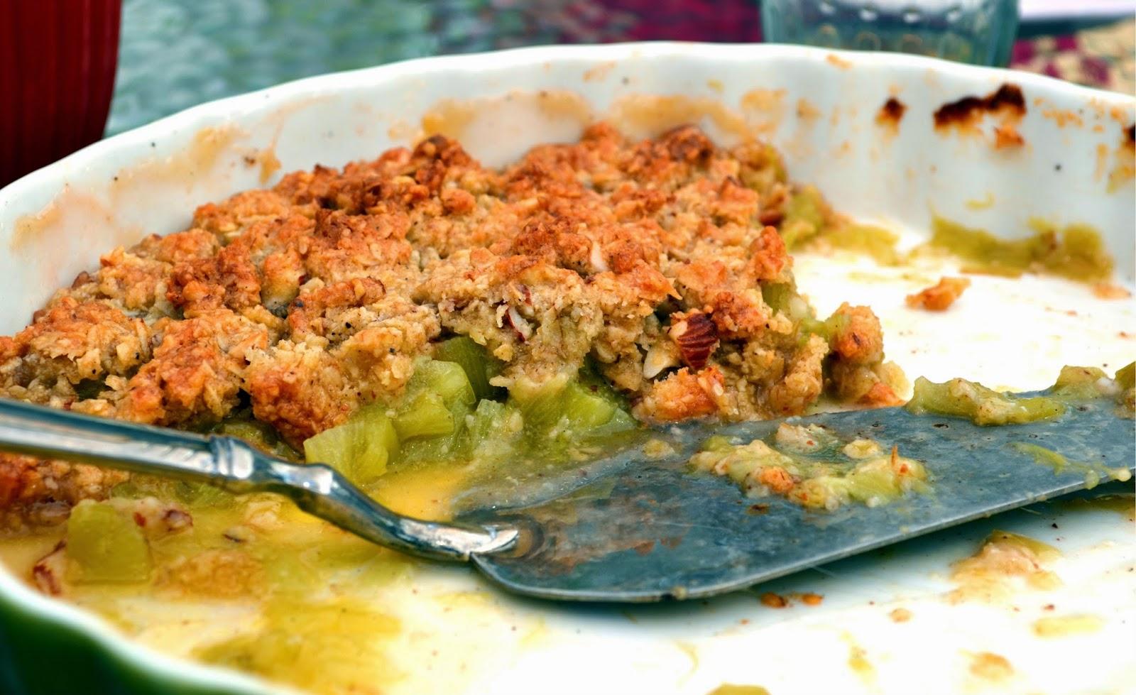 rabarberpaj med mandel