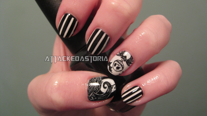 Attackedastoria Nails: Nightmare Before Christmas nails!