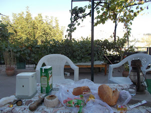 """Lunch on terrace garden of """"Ishtar Cave Pansion"""" hostel"""