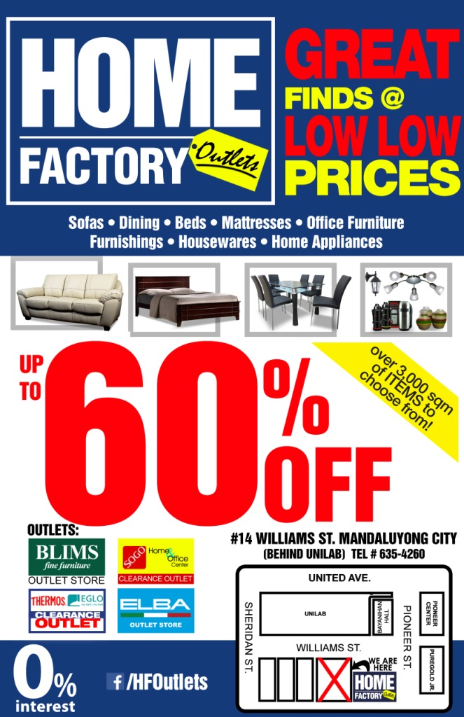 Manila shopper home factory outlets store grand opening sale aug 2015 Home furnishings factory outlet