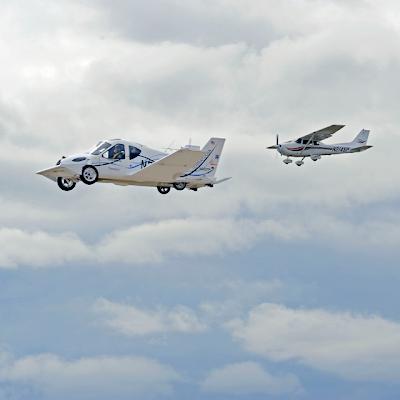Auto y Avión a la vez - Car Plane Hybrid Vehicle by Terrafugia Transition