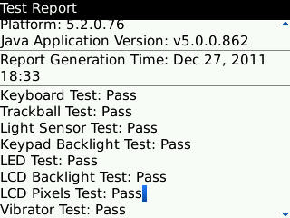 Report Of Test Configuration