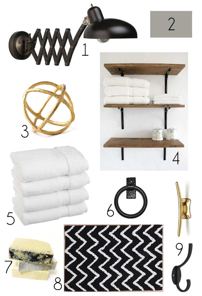 Black, White, and Gold Mood Board