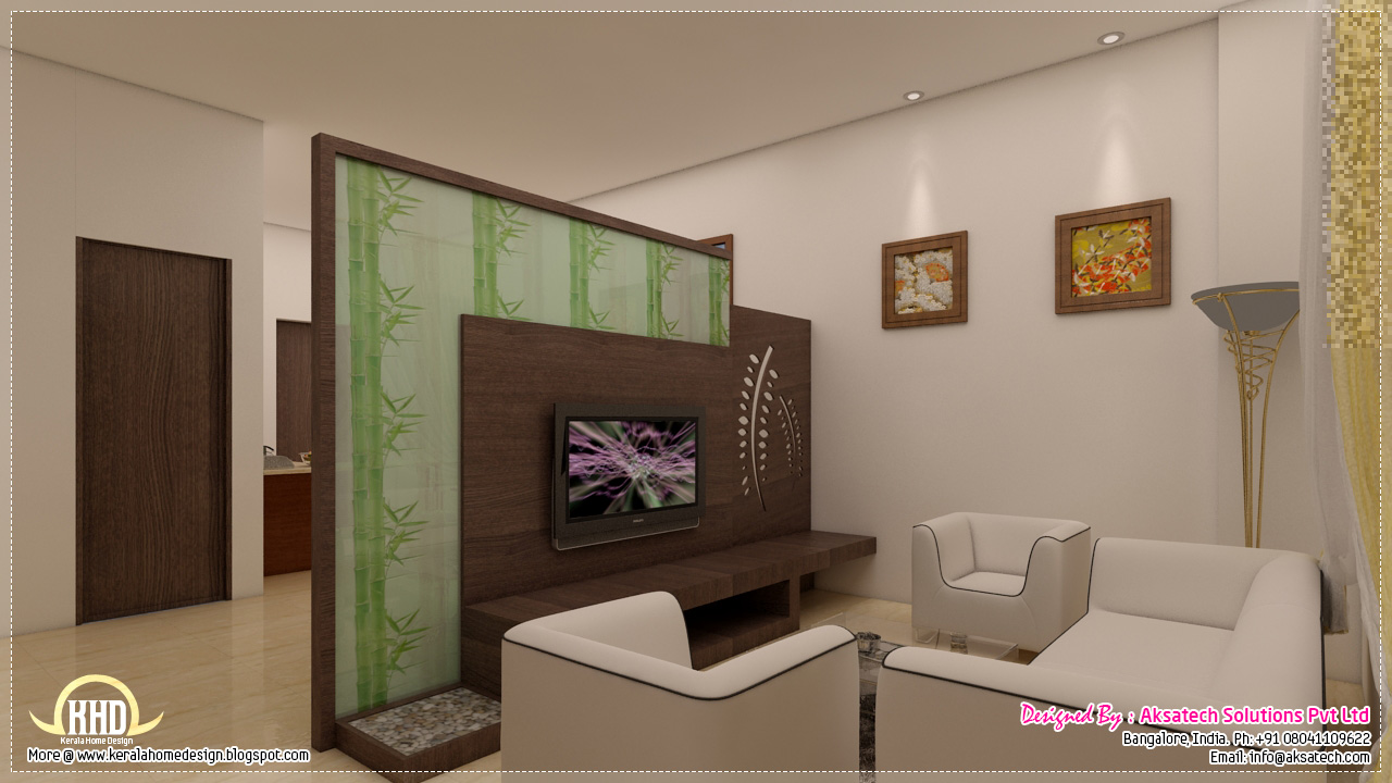 3d visualizations of interiors and elevations house for Living room elevation