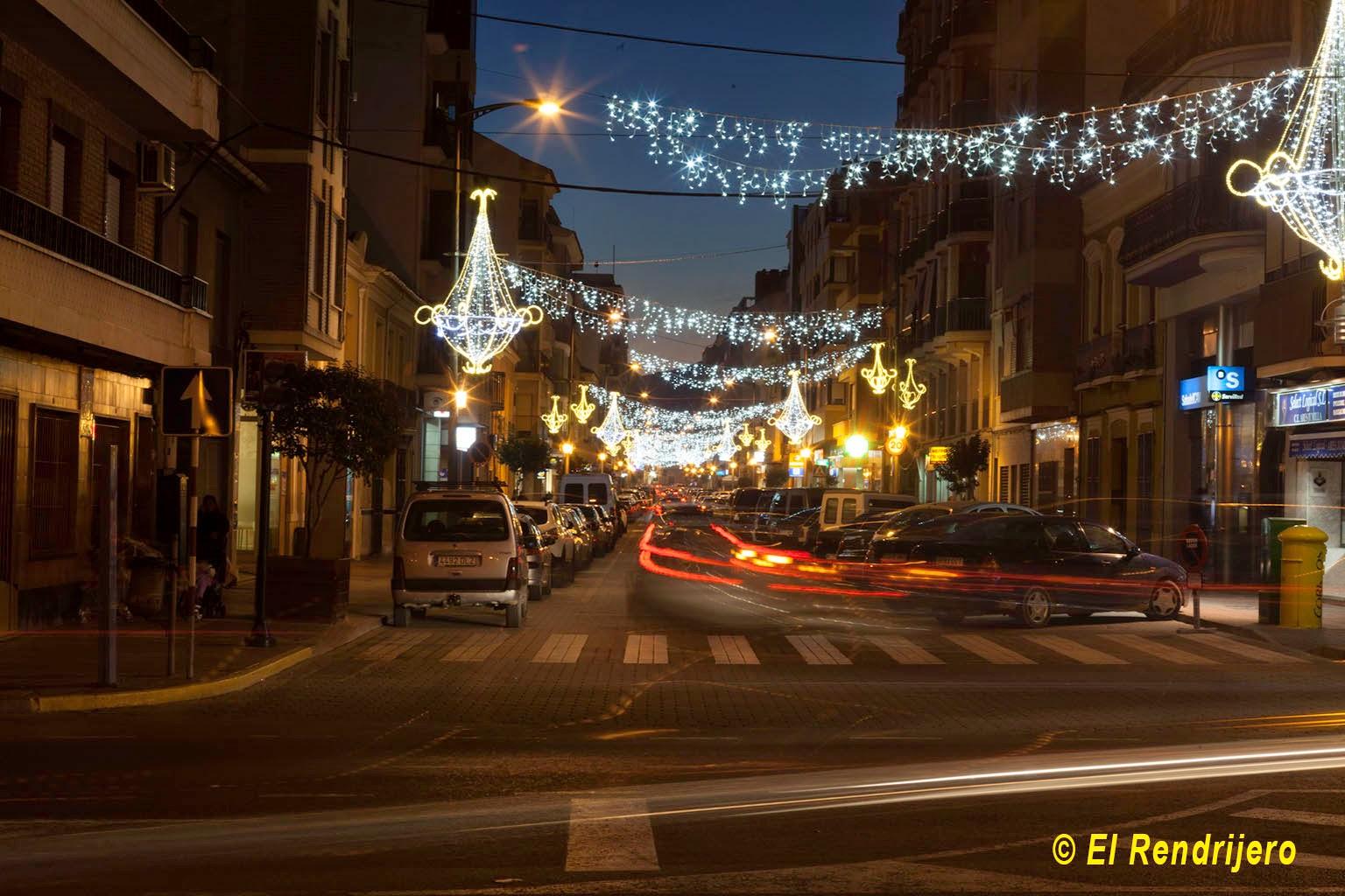 Luminaria de la navidad 2014 en Jumilla